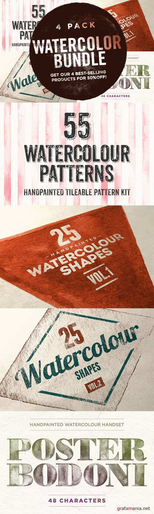Watercolor Bundle - Creativemarket 21192