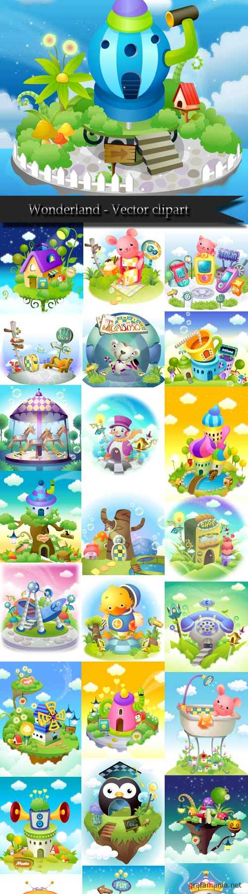 Wonderland - Vector clipart