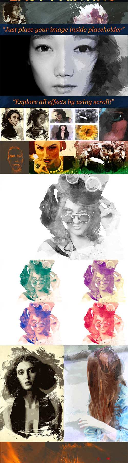 CreativeMarket - Easy Painting Effects Set. 57983