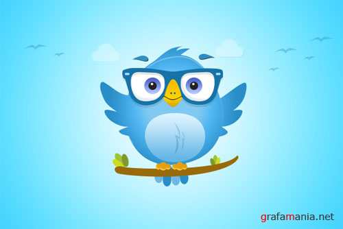 Twitter Bird Icon - Creativemarket 87690