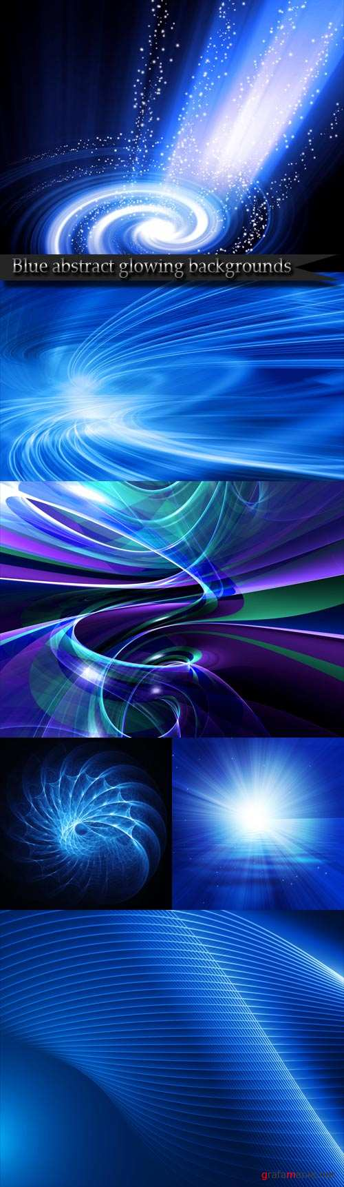 Blue abstract glowing backgrounds