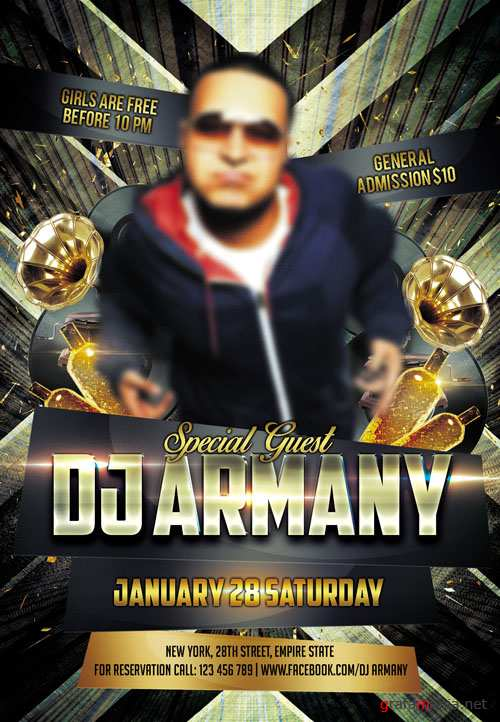 Club Flyer Template - Special Guest Dj Armany