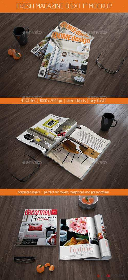 GraphicRiver Fresh Magazine Mockup 8.5x11