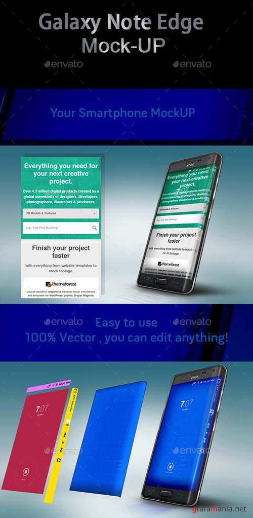 GraphicRiver Galaxy Note Edge Mock-Up