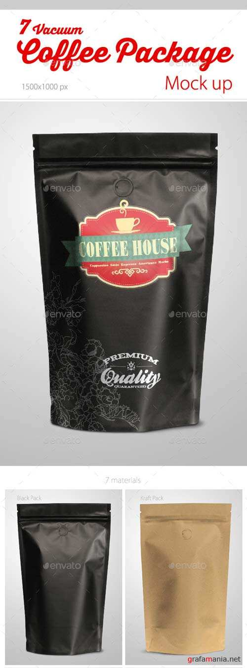 GraphicRiver Coffee Vacuum Package Mock-up