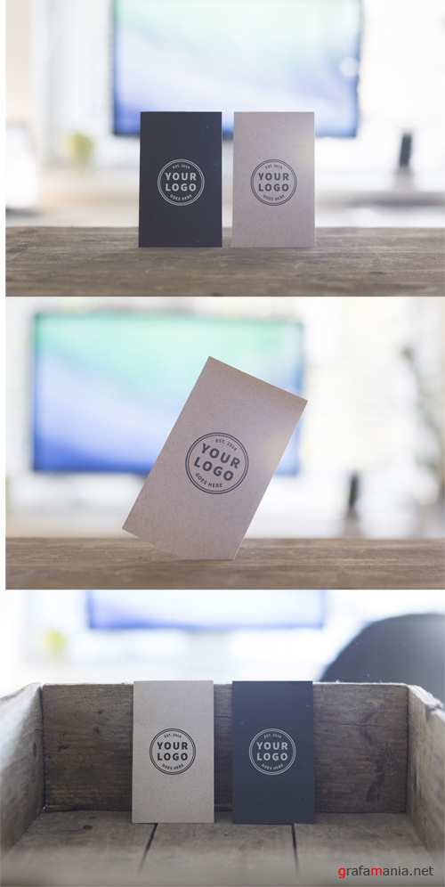 PM Business Cards Mock up PSD