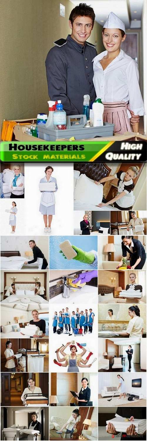 Housekeeper and house cleaning Stock images - 25 HQ Jpg