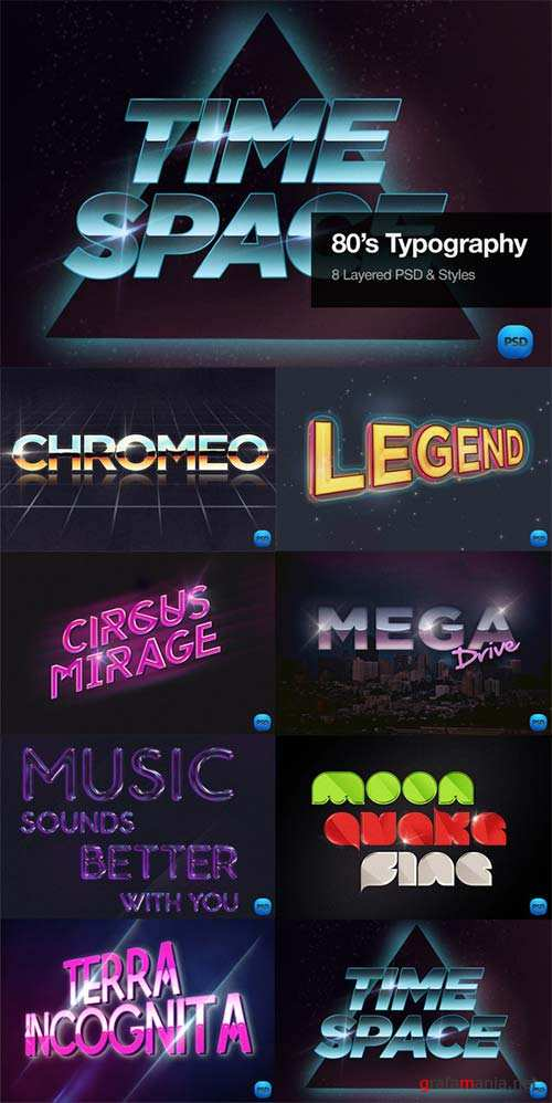 CreativeMarket 80's Typography Text Effects