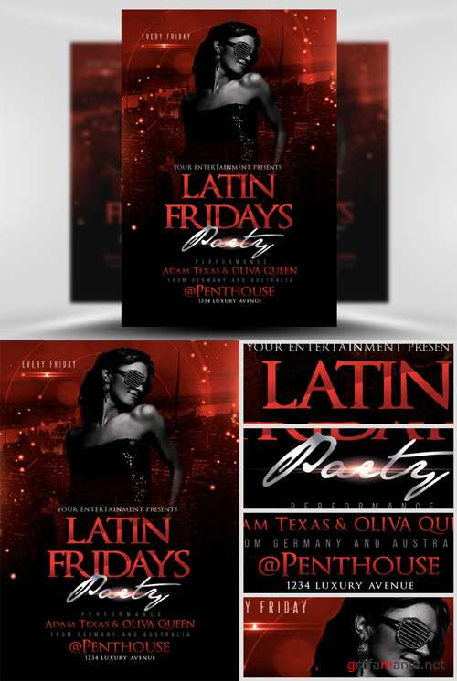 Latin Fridays Flyer Template 2