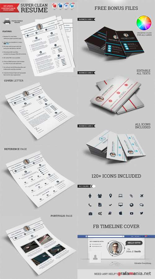 CM - Super Clean Resume/CV - With MS Word 143315