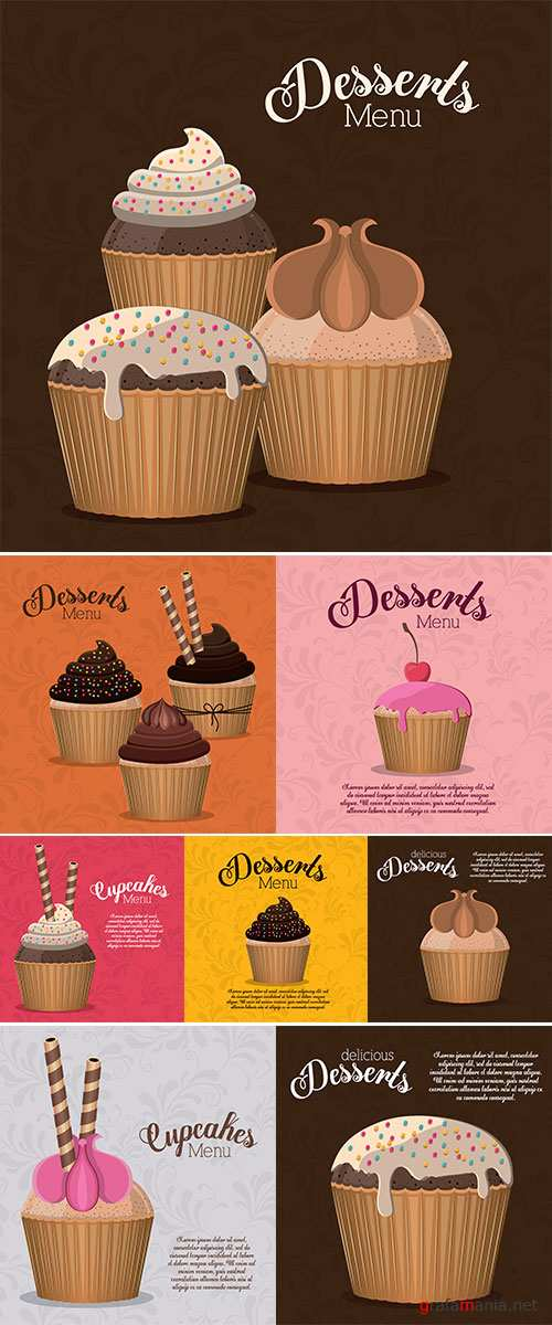 Stock Dessert design over white background ,vector illustration