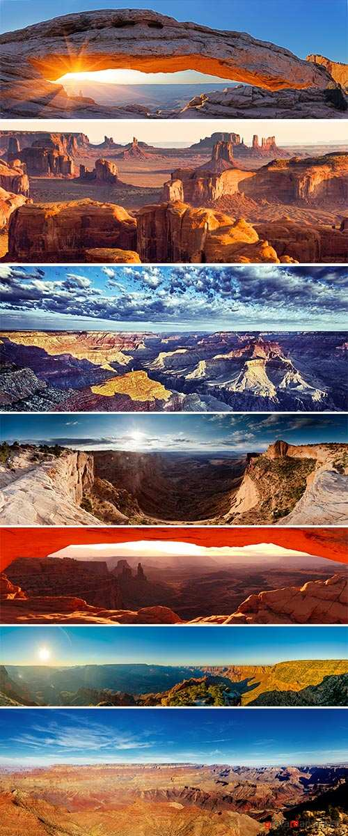 Stock Photo Grand Canyon Sunset panorama