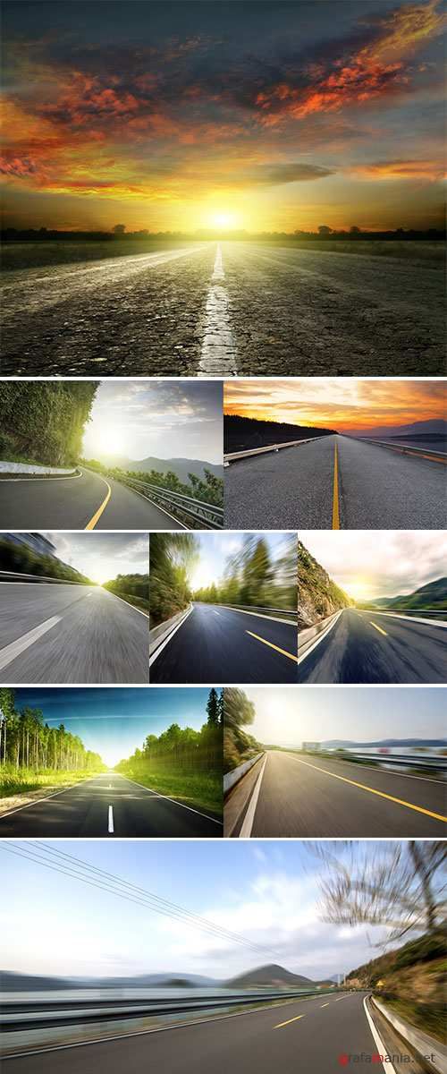 Stock Photo Mountain Highway background