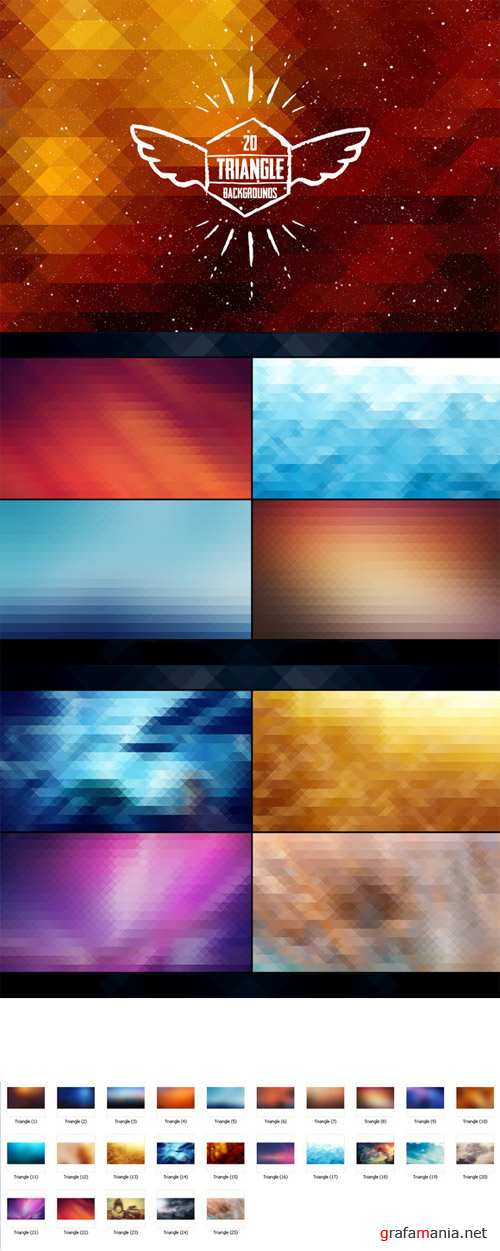 25 Triangle Backgrounds