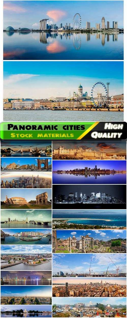 Beautiful panoramic photos of different cities of the world - 25 HQ Jpg