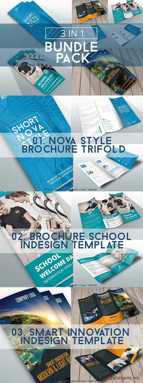 CreativeMarket Bundle Trifolds InDesign Templates