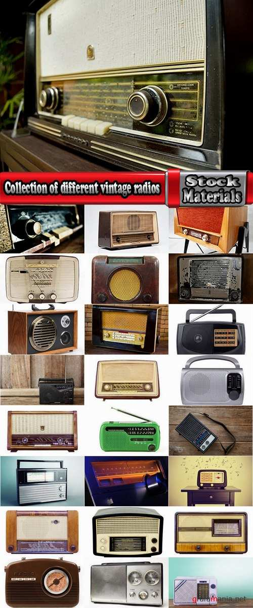 Collection of different vintage radios 25 HQ Jpeg