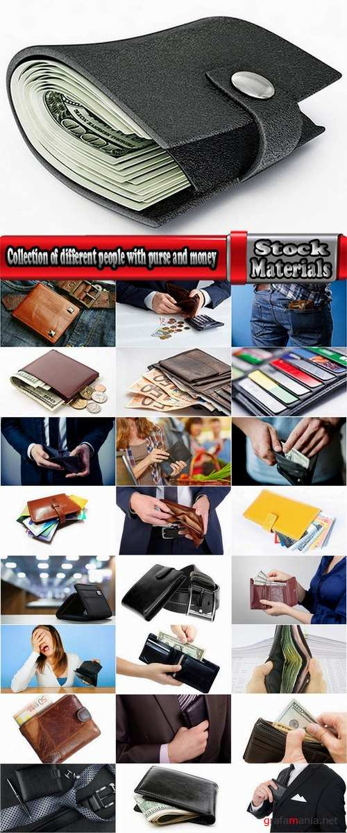 Collection of different people with purse and money 25 HQ Jpeg