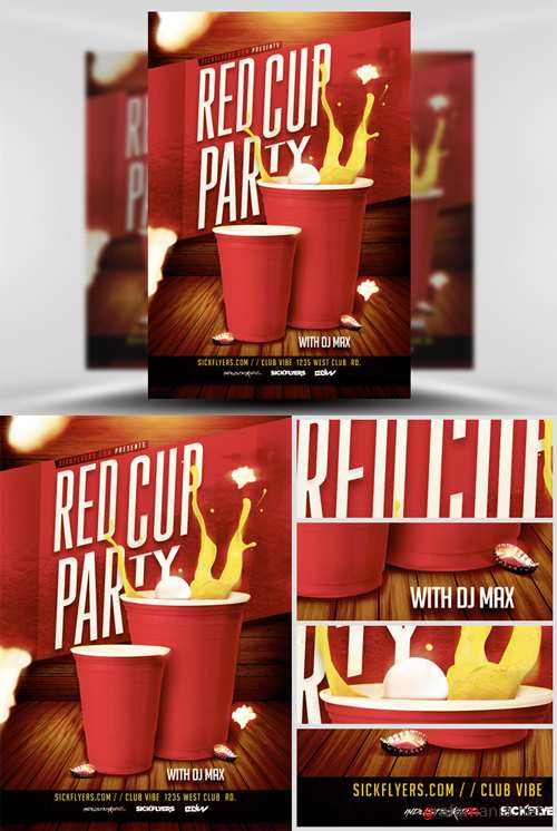 Red Cup Flyer Template