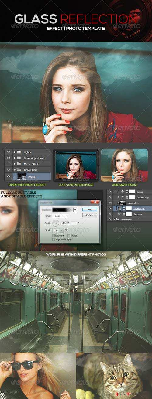 GraphicRiver Glass Reflection Effect Photo Template