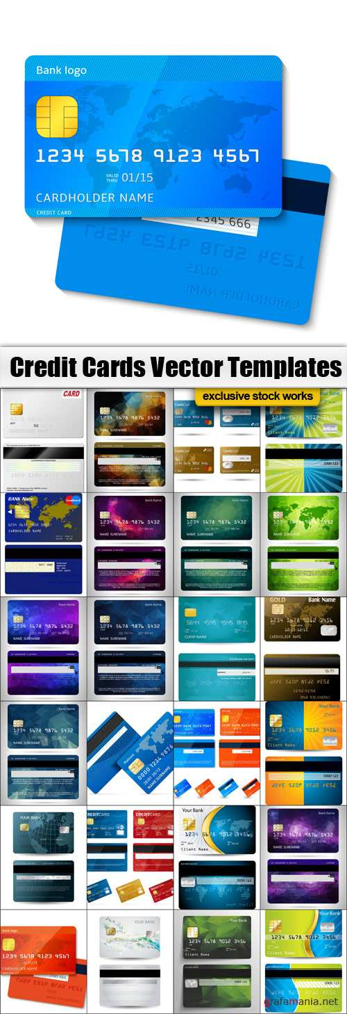 Bank Card Vector Templates Pack