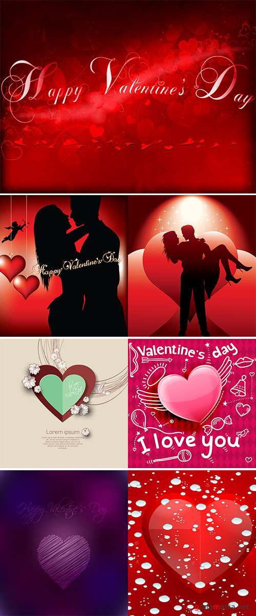 Stock Valentine's day background with hearts