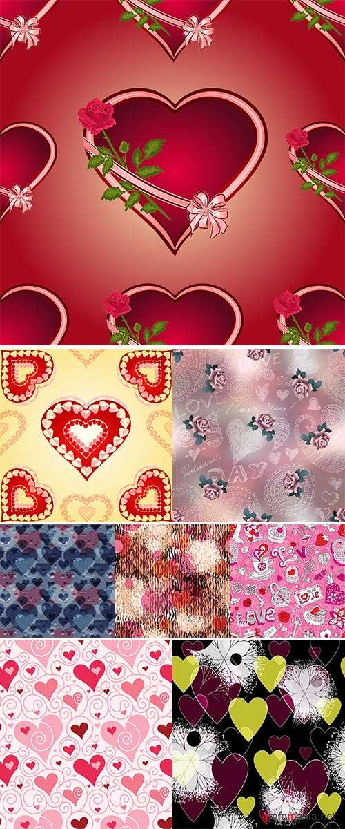 Stock Vector seamless Valentine's Day pattern