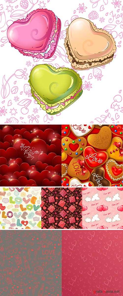 Stock Seamless background with Happy Valentine's day