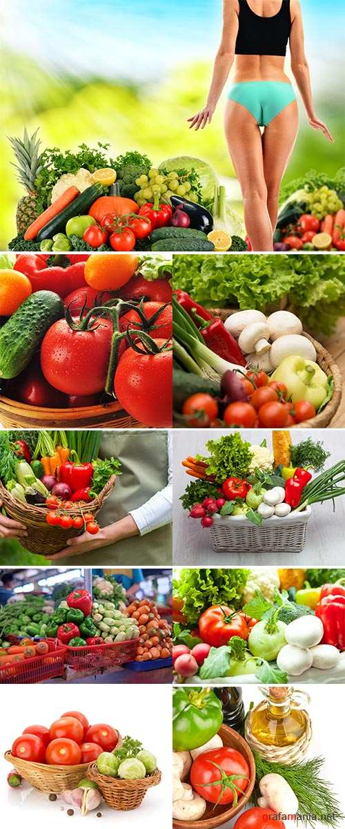 Stock Photo Fresh vegetables in basket