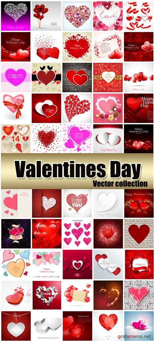Valentine's Day romantic backgrounds, hearts # 34