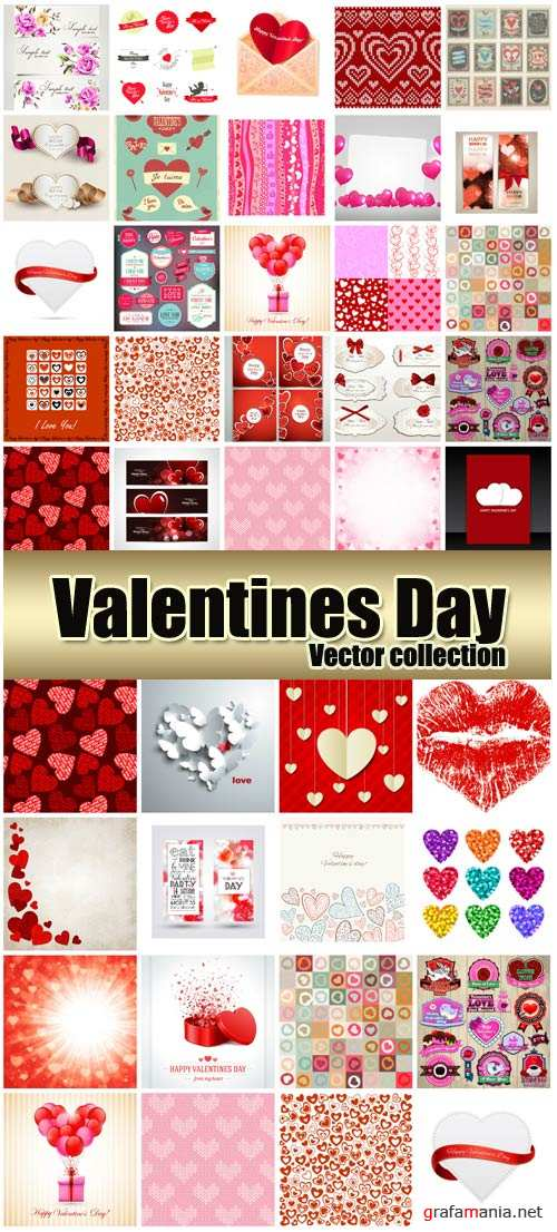 Valentine's Day romantic background vector hearts # 39