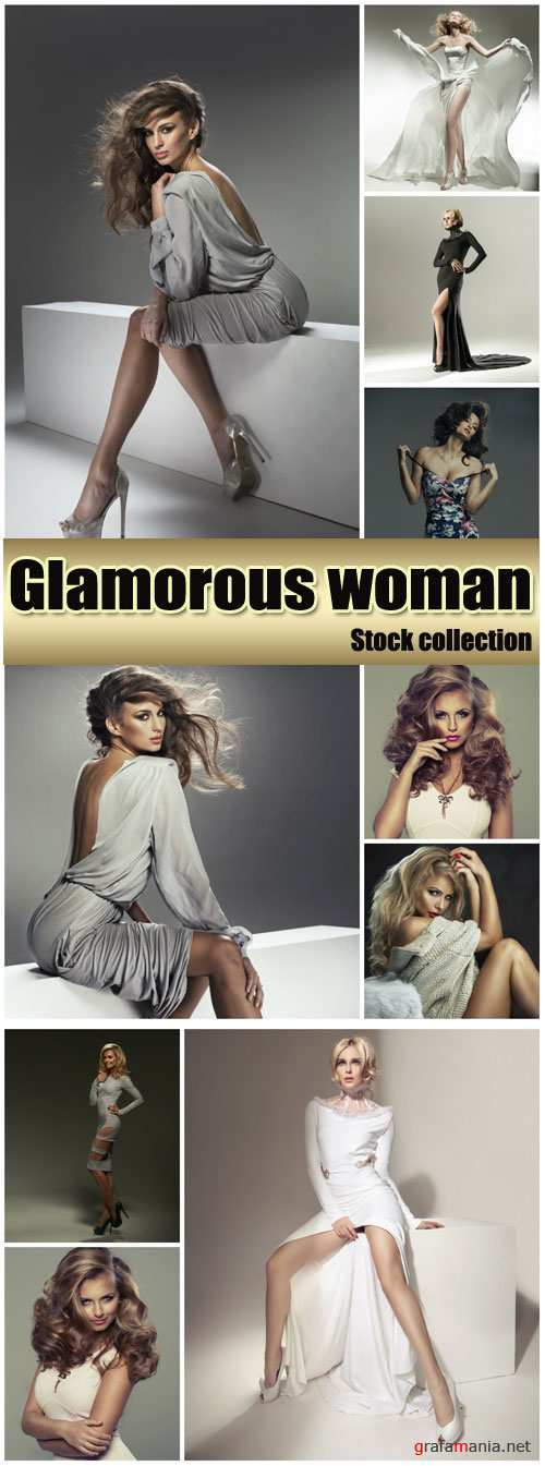 Glamorous women in beautiful dresses - stock photos