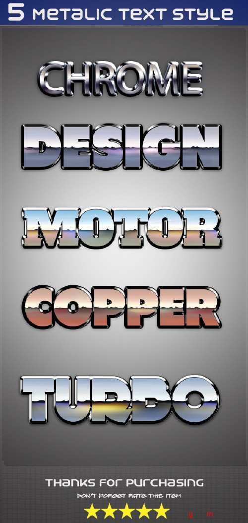 GraphicRiver - 5 Metalic Text Style 10024771