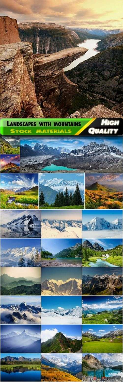 Beautiful landscapes with mountains and rocks - 25 HQ Jpg