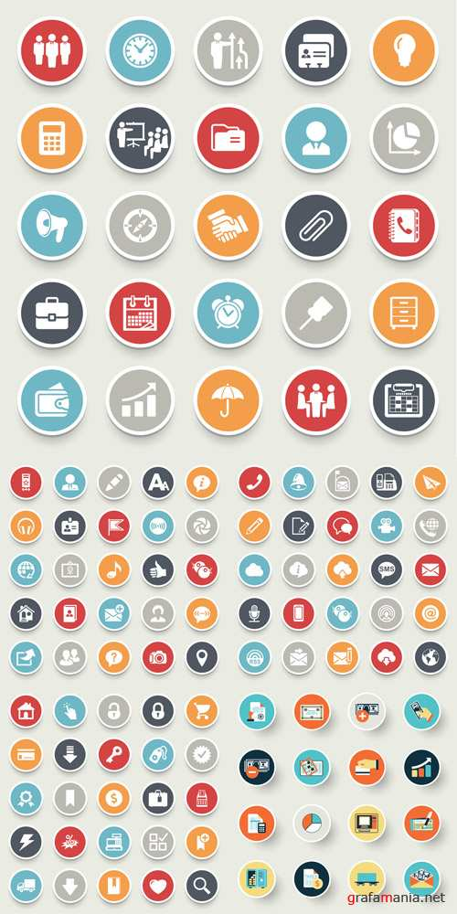 Flat Icons Vector Mix