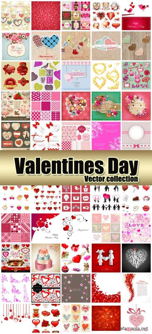 Hearts vector, backgrounds and icons, valentines day