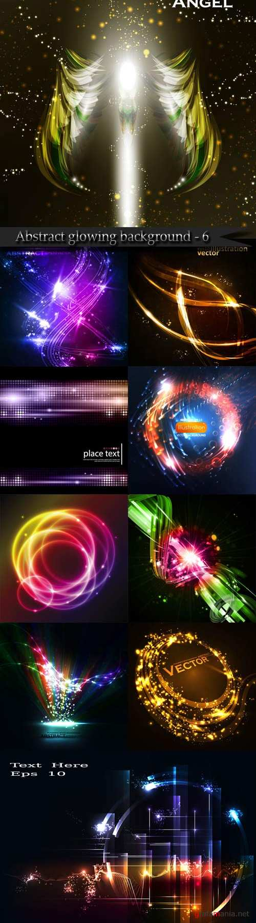 Abstract glowing background - 6