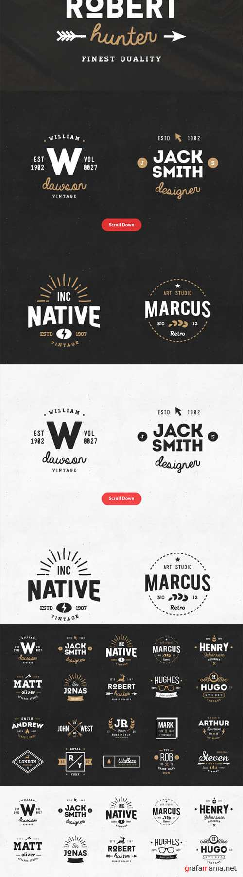 20 Vintage Logos and Badges Vol 01