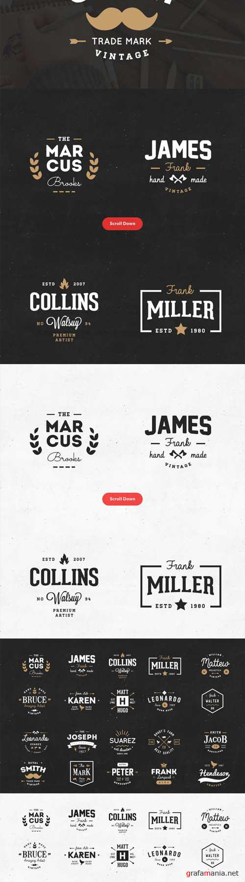 20 Vintage Logos and Badges Vol 02