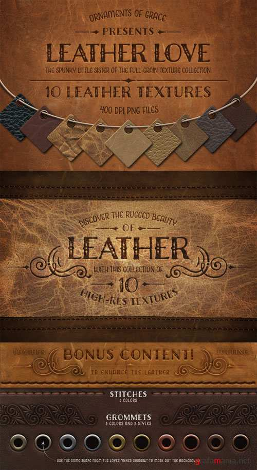 Leather Love - 10 Leather Textures - CM 11898