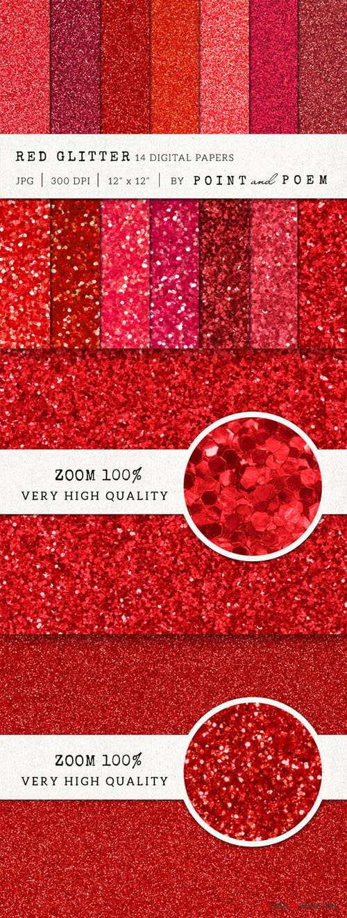 Red Glitter Texture Pack - CM 159213