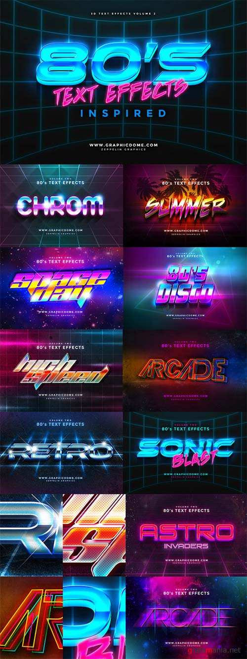 CreativeMarket 80s Text Effects
