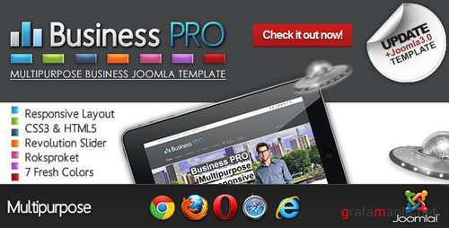 Themeforest - Business Pro - Clean Responsive Joomla Template 4124630