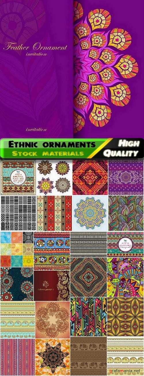 Abstract indian ethnic ornaments and patterns - 25 Eps