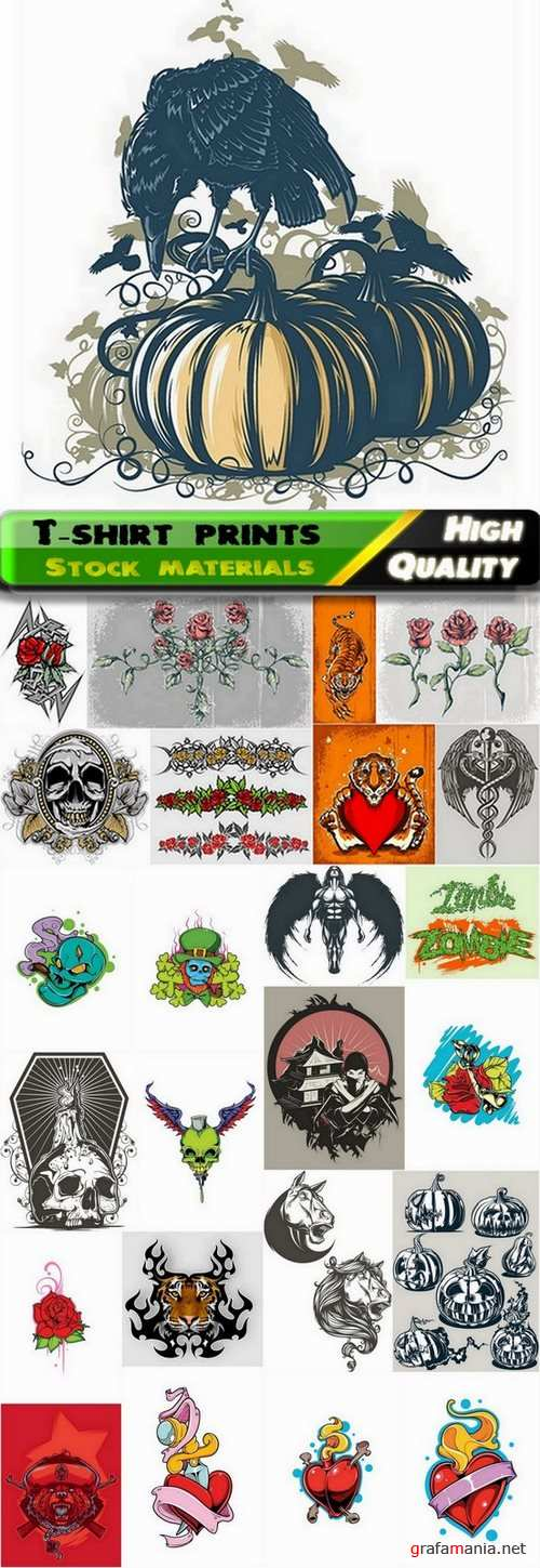 T-shirt prints design in vector from stock #41 - 25 Eps