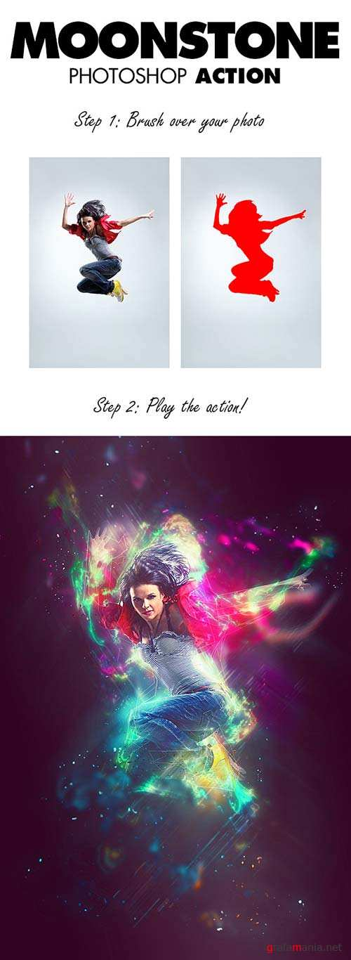 GraphicRiver MoonStone Photoshop Action