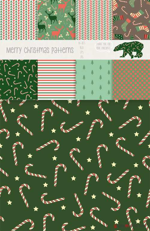 Merry christmas patterns - CM 85269