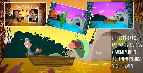 A Fishy Valentine Cartoon - After Effects Project (Videohive)