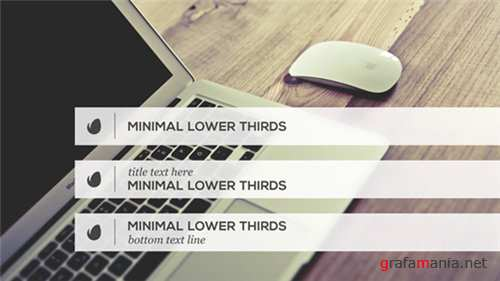 Minimalist Lower Thirds Template - After Effects Project (Videohive)