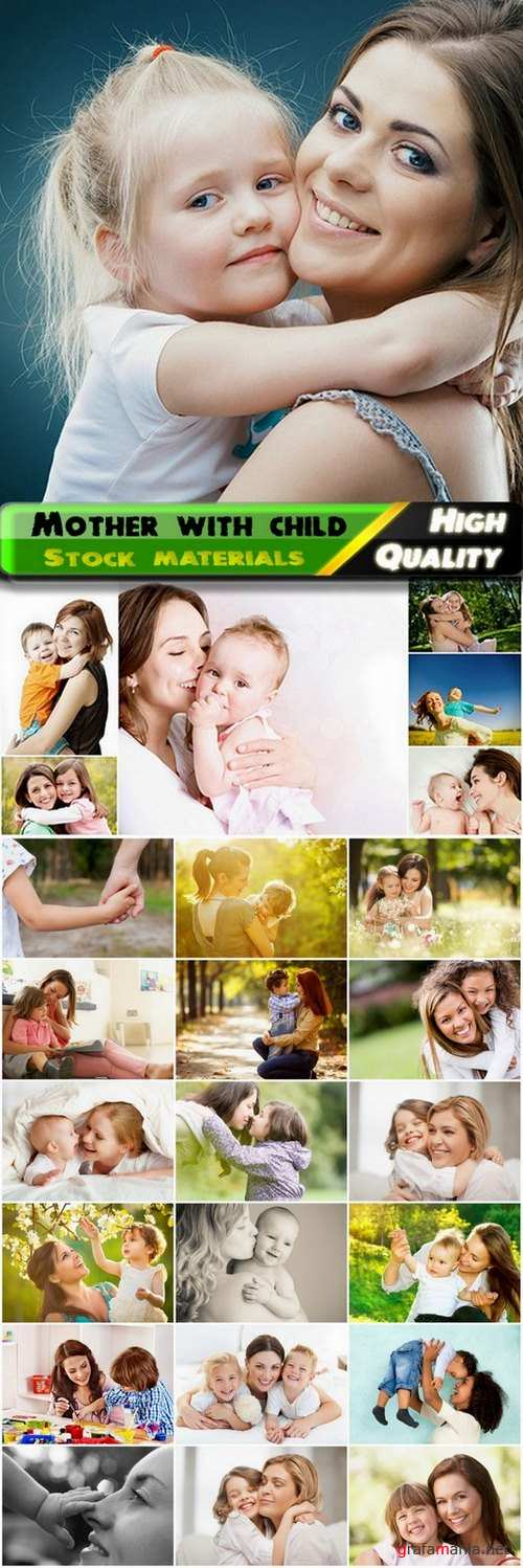 Mother with  happy child and baby mother care - 25 HQ Jpg